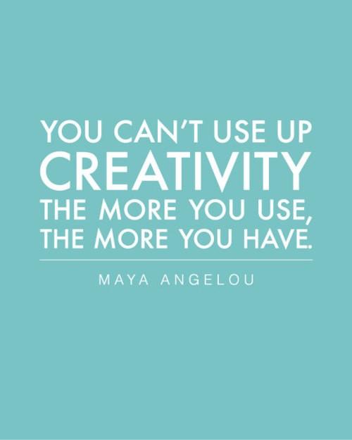 Creativity inspires creativity...
